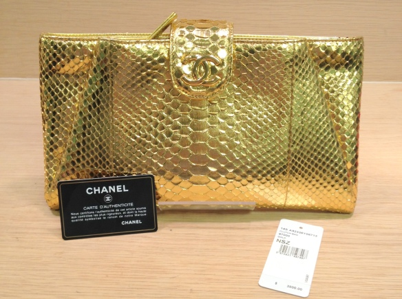 Chanel Python Clutch